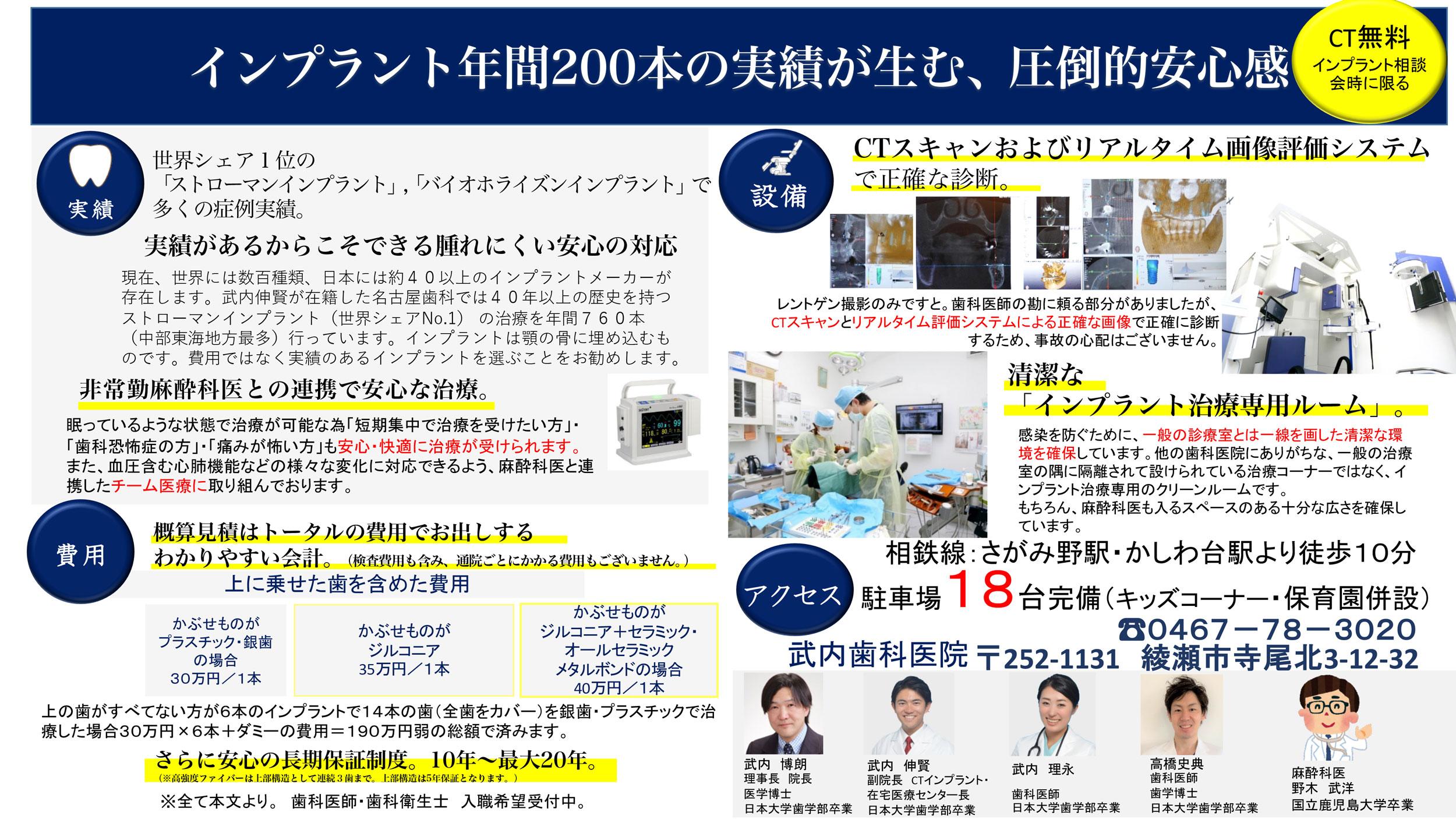 綾瀬の歯医者 武内歯科医院 インプラント相談会